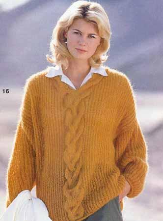 Описание: b Вязание свитера из